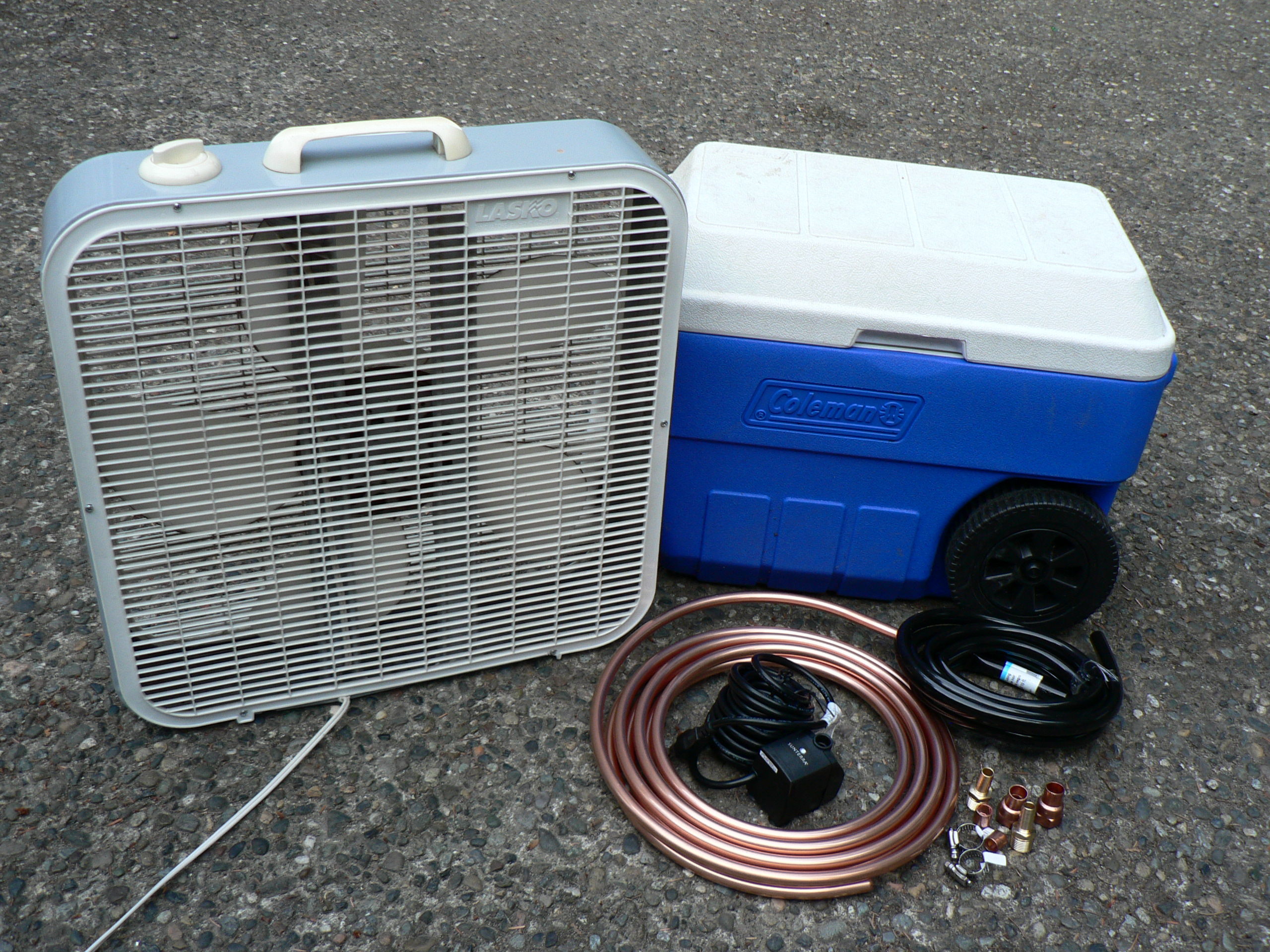 Build Your Own Evaporative Cooler : Garmi bho lets make a home made air conditioner